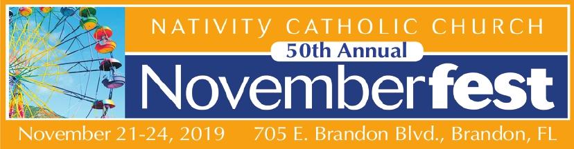 Novemberfest 50th Anniversary Logo November 21 - 24