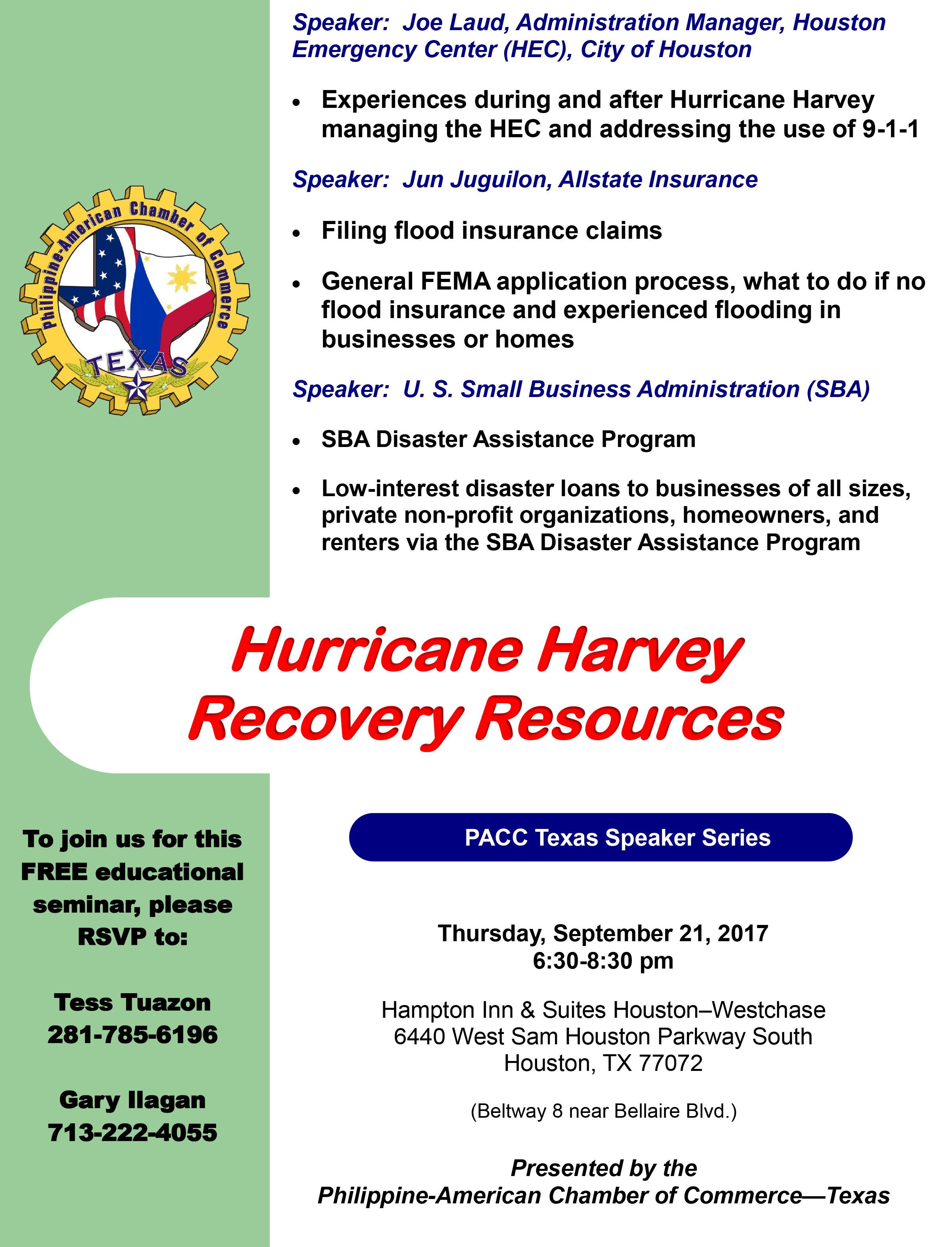 Hurricane Harvey Resources