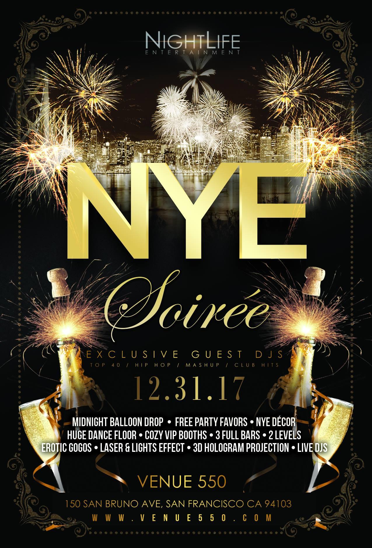 NYE SOIRÉE 2018 Tickets, Sun, Dec 31, 2017 at 10:00 PM | Eventbrite