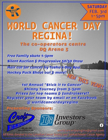World Cancer Day Regina Event Poster