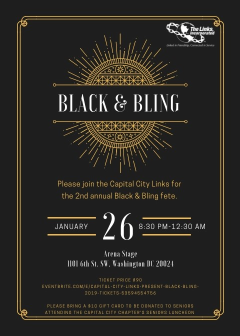 Black and Bling - January 26, 2019 - Arena Stage