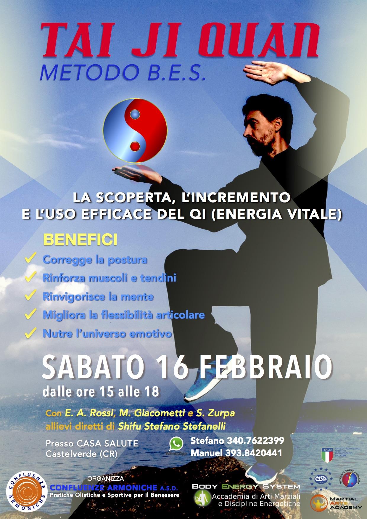 Locandina evento 16 febbraio 2016 - Riscopri il tuo qi