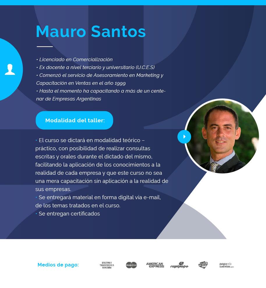 Nuestro destacado orador: Mauro Santos