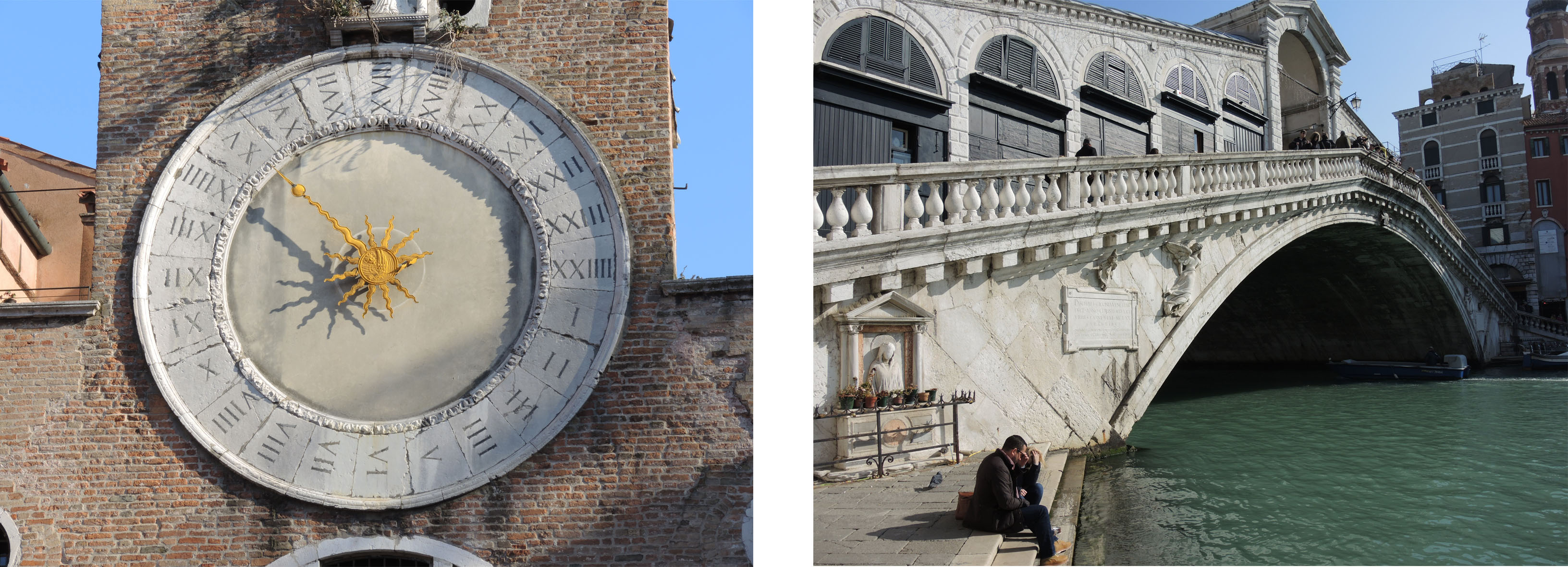Rialto bridge – The merchants clock in Rialto