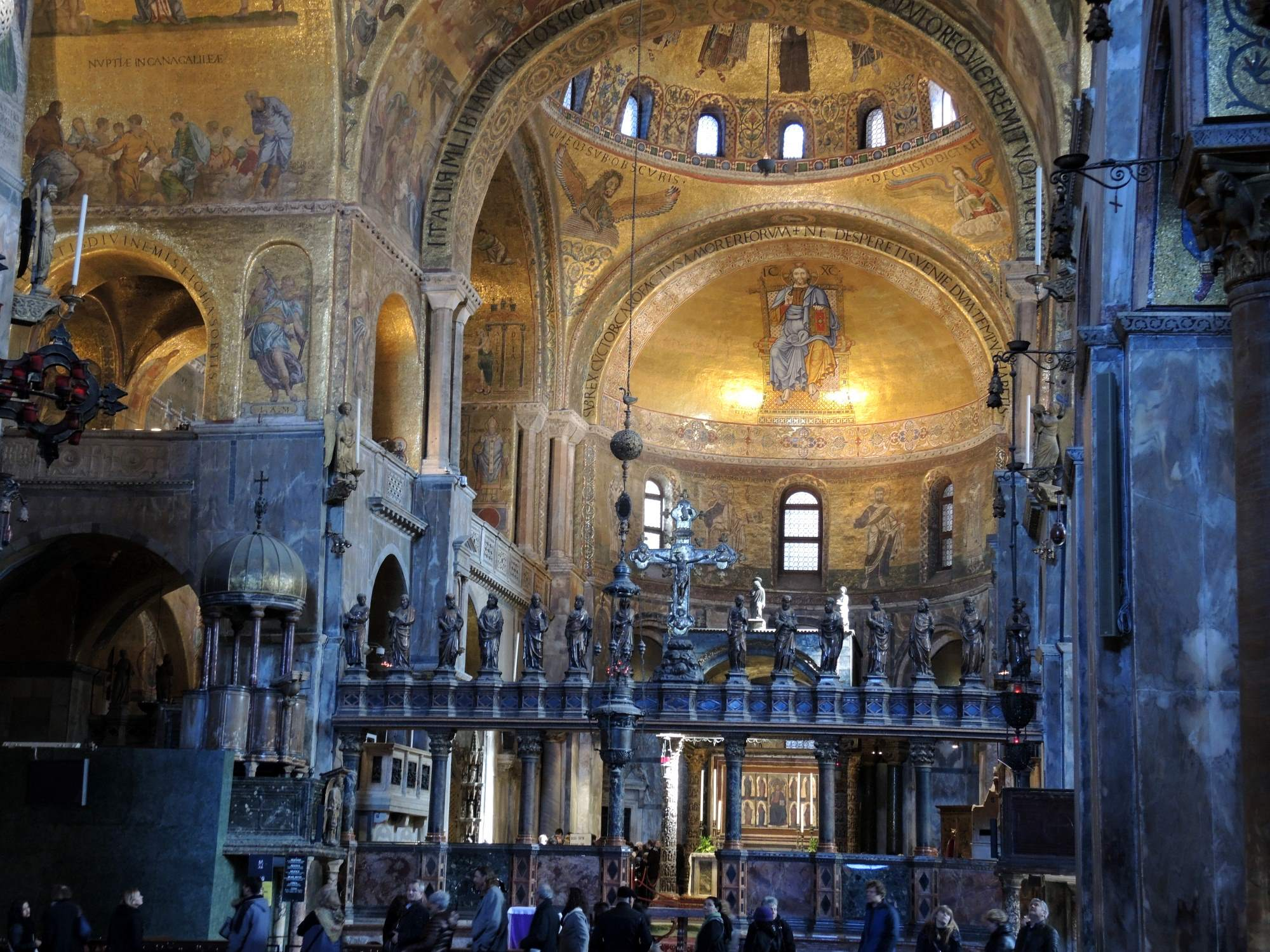 Interior of St. Mark's church with mosaics