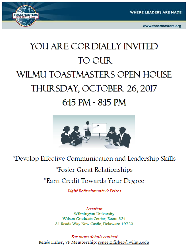 Toastmasters Open House Flyer