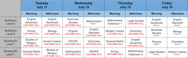 FREE HSC LECTURES - July Trial Revision - Register NOW!