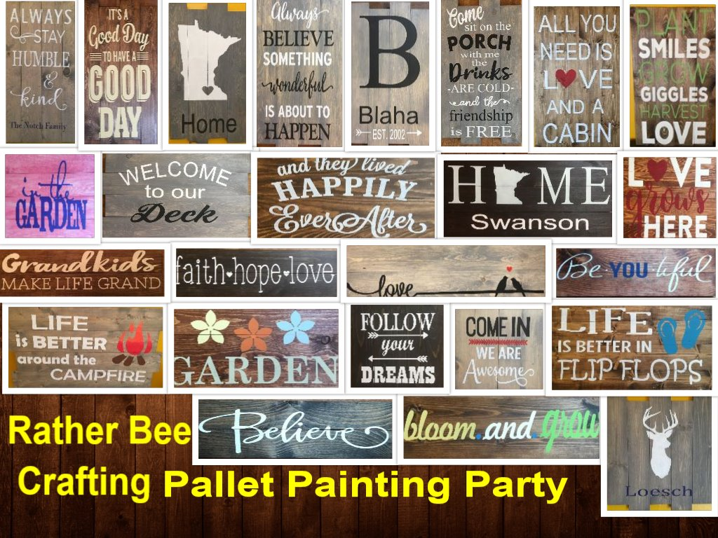 rustic pallet sign painting party jb 39 s tavern wanamingo