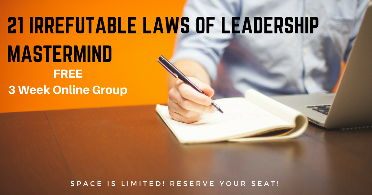 21 Irrefutable Laws Of Leadership Mastermind with Lorinda Buckingham