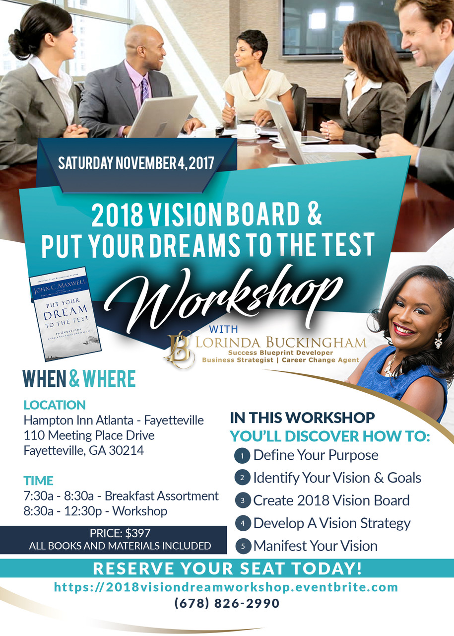 Photo from LorindaBuckingham.com For Events, Vision Board, 2018 Vision Board Workshop,https://lorindabuckingham.com/events, Vision Board Workshop, New Year, Atlanta, Georgia, Things To Do Near Atlanta, Life Coach, Motivational Speaker, Mastermind, Leadership, Trainer, Certified, John Maxwell, Modern Empowerment, Peachtree City, Certified, Public Speaker, Leadership Coach, Events, Podcast,