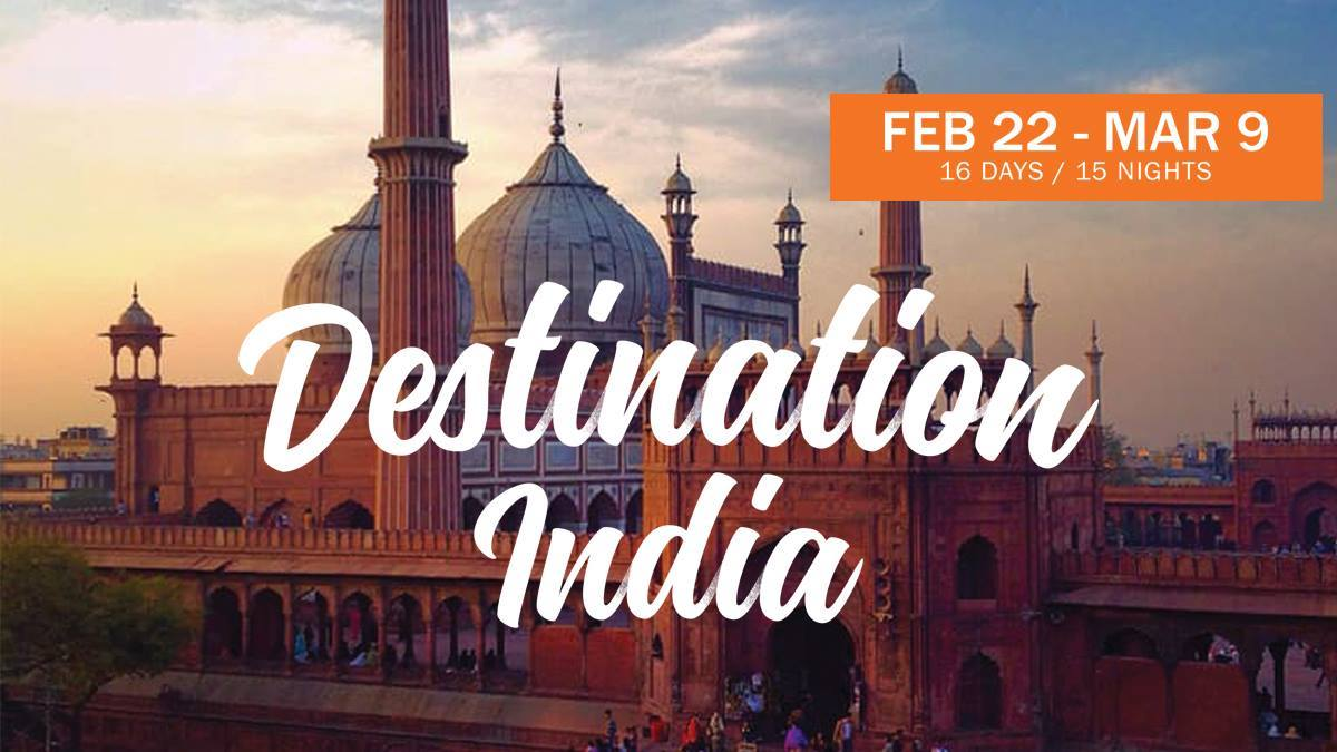 Join us for Destination India