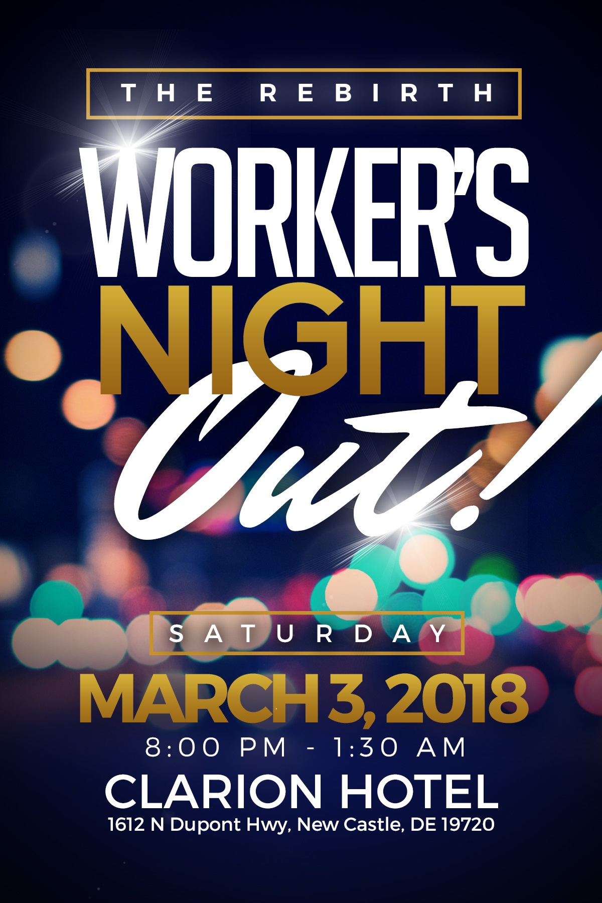 Workers Night Out @ Clarion Hotel   New Castle   Delaware   United States