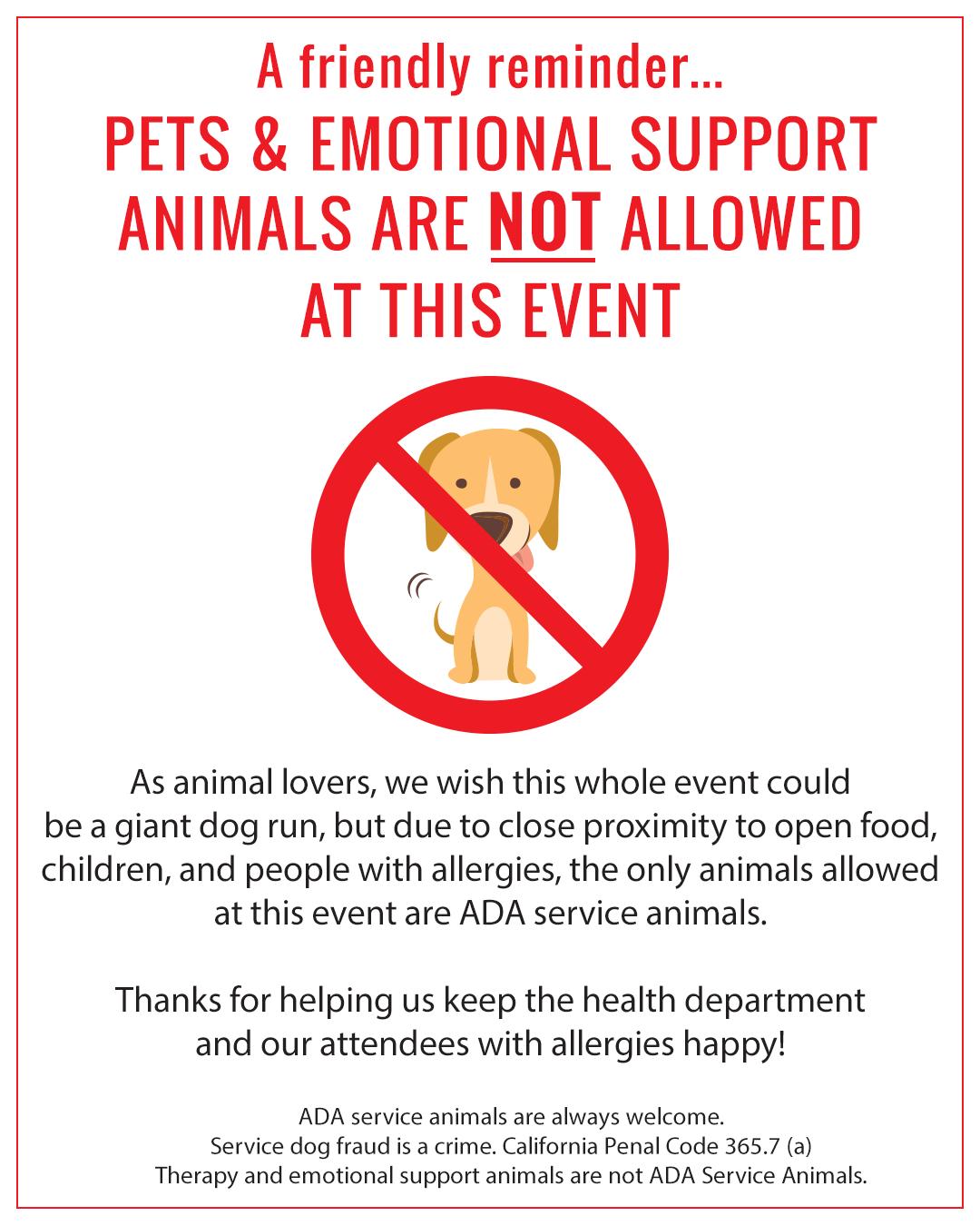 No Dogs at VSF