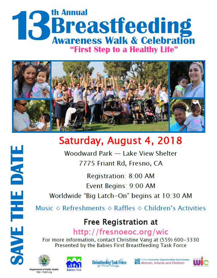 13th breastfeeding awareness walk flyer