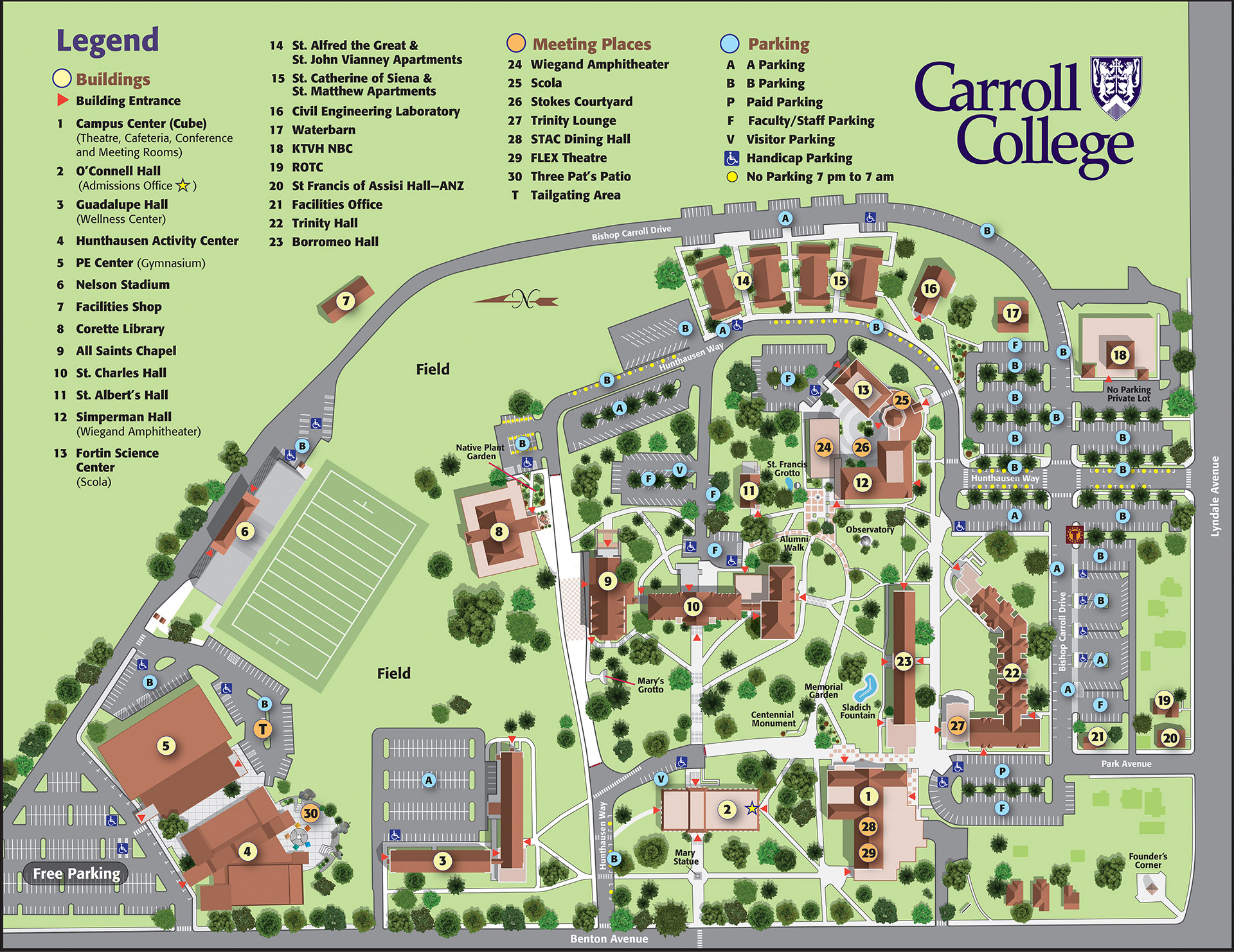 Carroll College Map