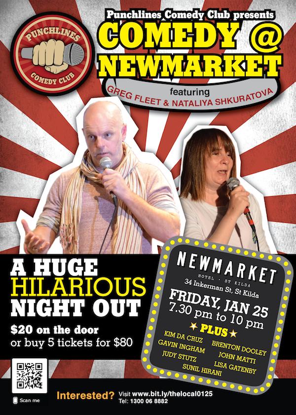 Comedy at Newmarket Hotel - St Kilda