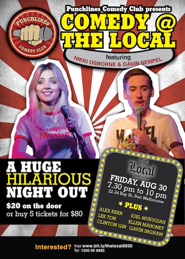 Punchlines Comedy Club in Melbourne - Nikki Osborne