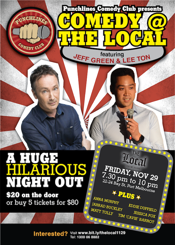Stand-up comedy with Jeff Green and Lee Ton