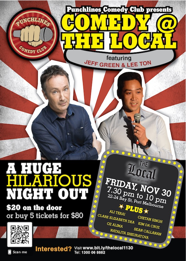 Punchlines Comedy Club November