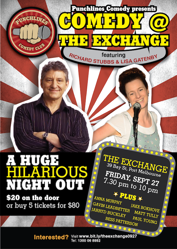 Punchlines Comedy Club - with Richard Stubbs