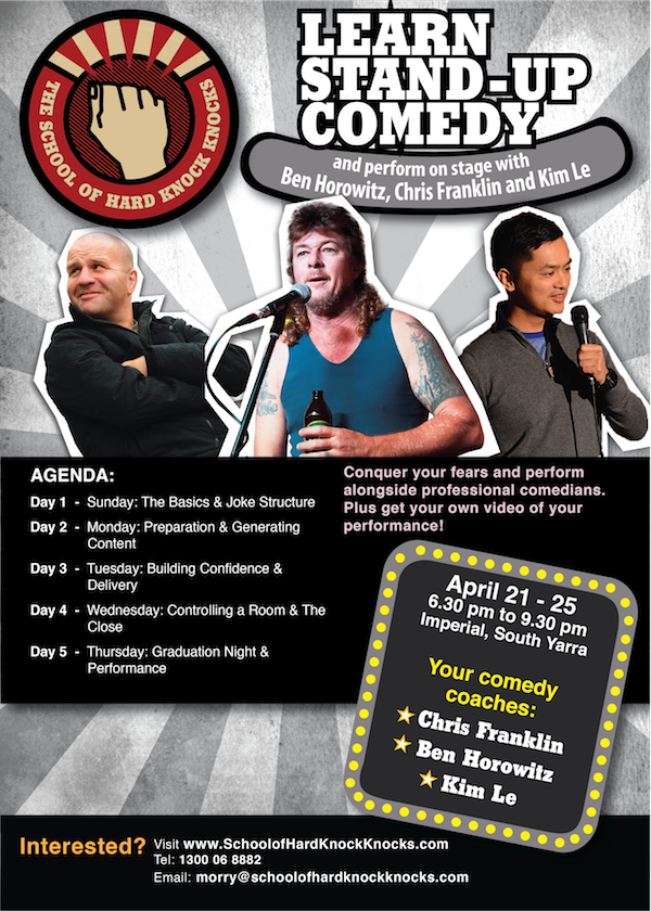 School of Hard Knock Knocks - Learn stand-up comedy with Chris Franklin