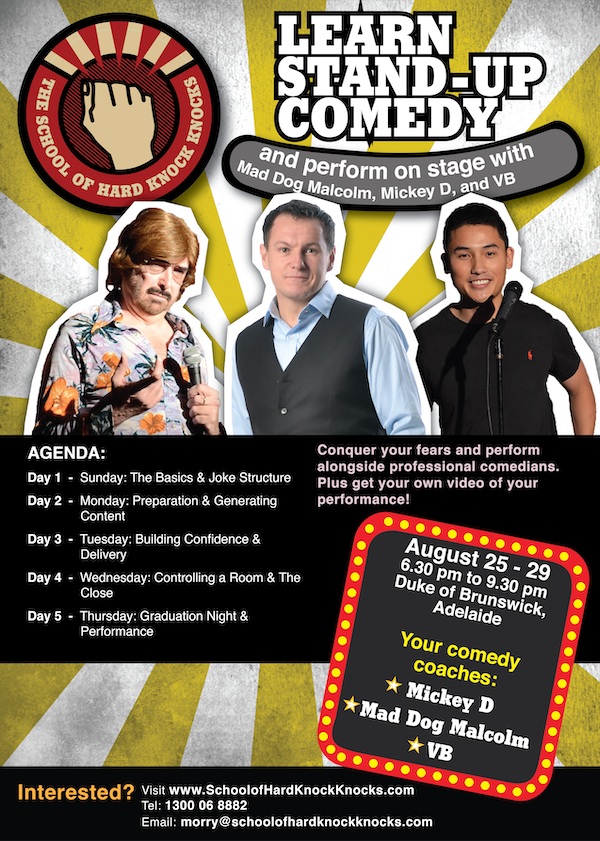 Learn stand-up comedy in Adelaide