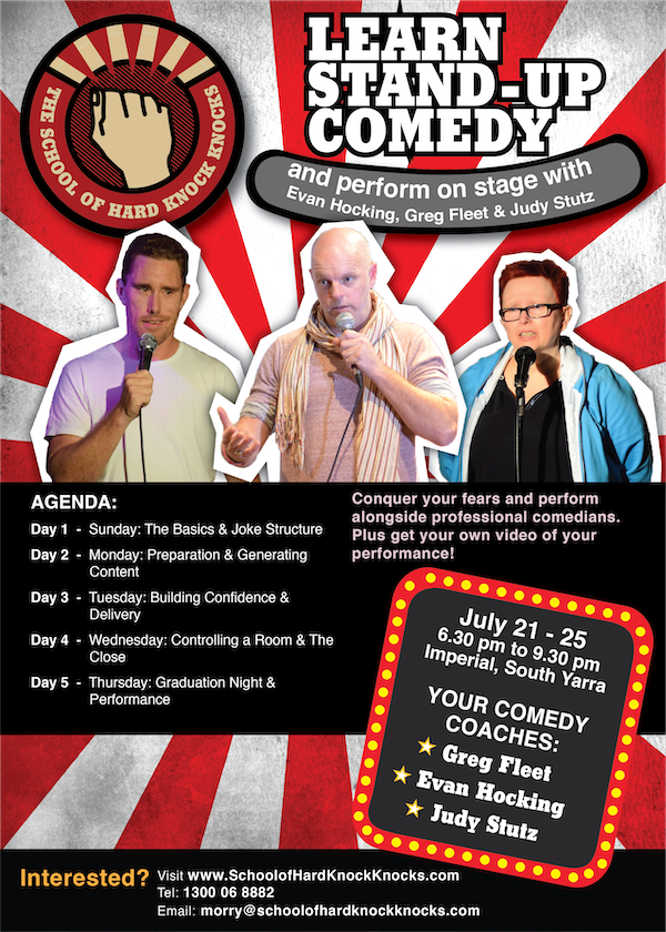 Learn stand-up comedy in Melbourne - July - 2019