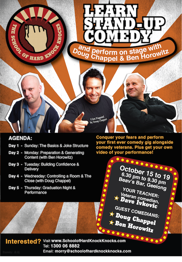 School of Hard Knock Knocks - Learn stand-up comedy in Geelong