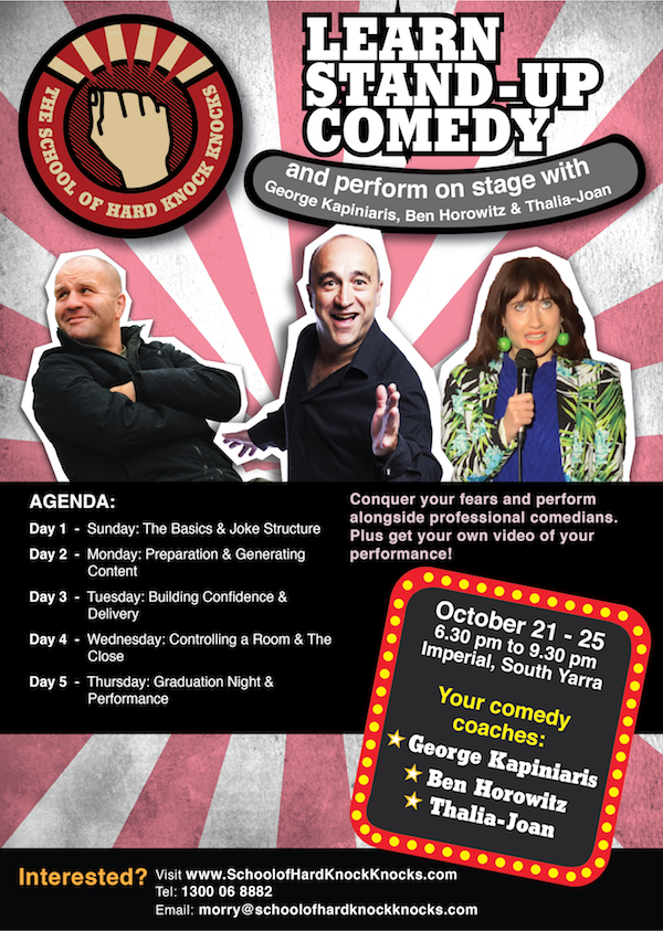 Learn stand-up comedy - Melbourne