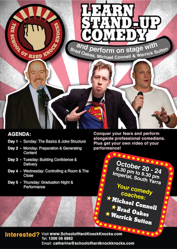 Learn stand-up comedy - Melbourne - October 2019