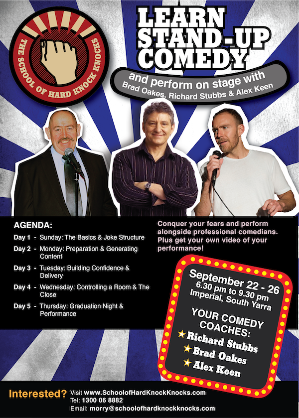 Learn stand-up comedy with Richard Stubbs - Melbourne - September