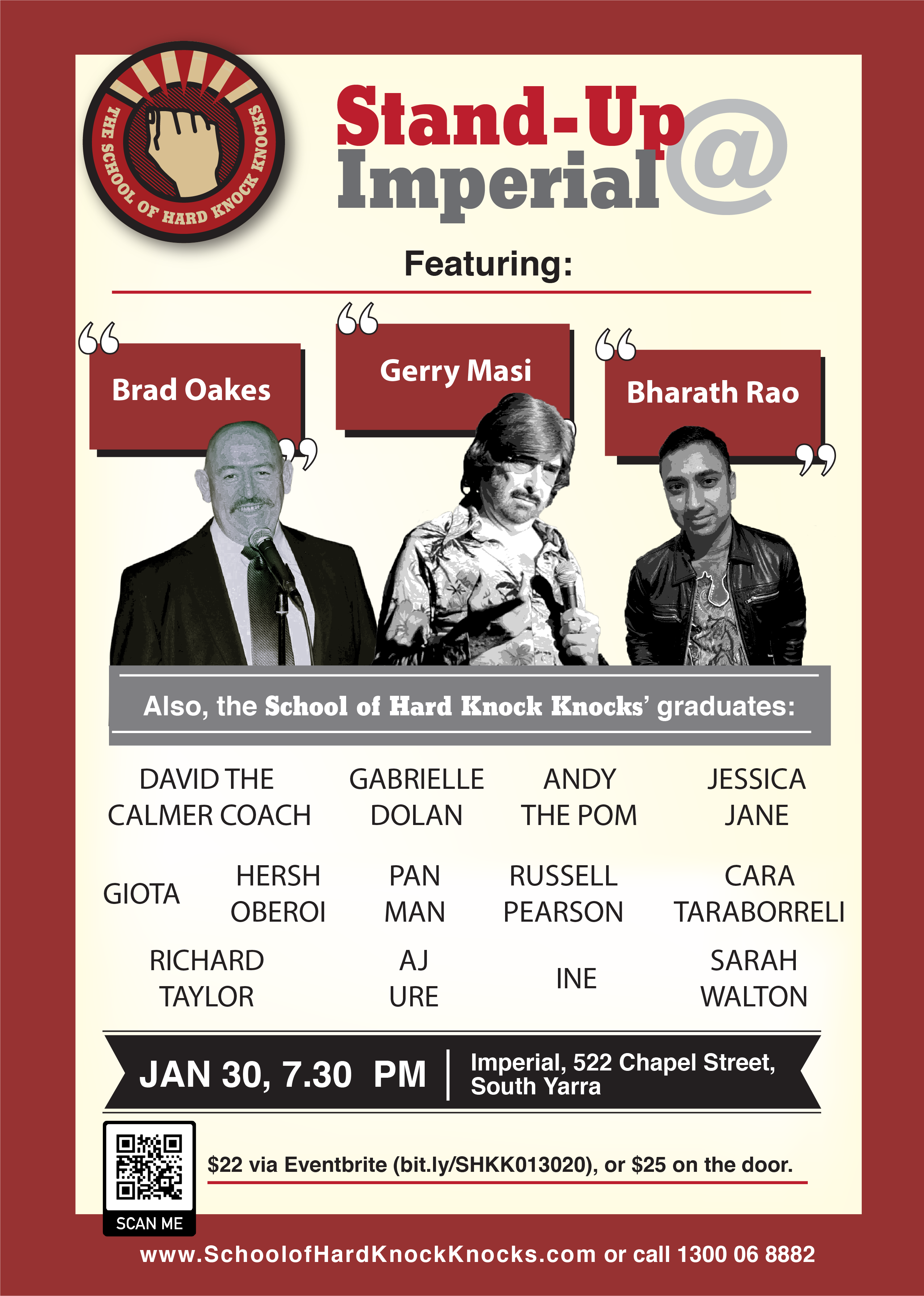 stand-up comedy in Melbourne - Gerry Masi and Brad Oakes