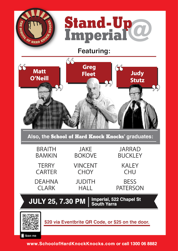 Stand-up comedy in Melbourne - July 2019