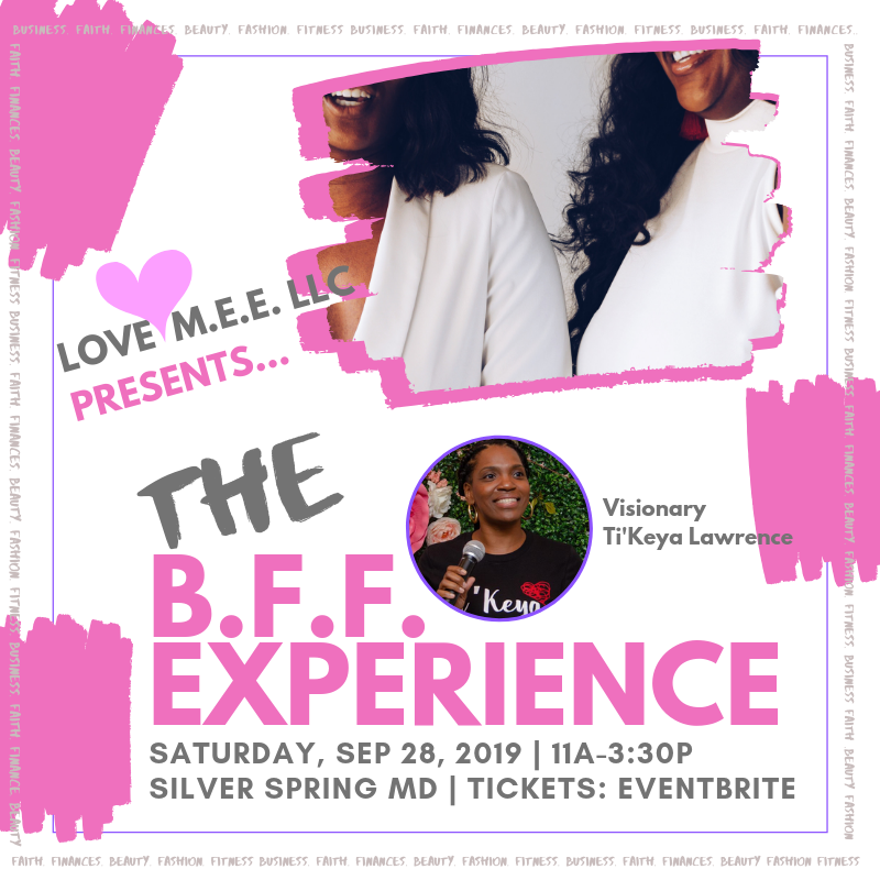 The B.F.F. Experience, Wellness Event. September 28 2019