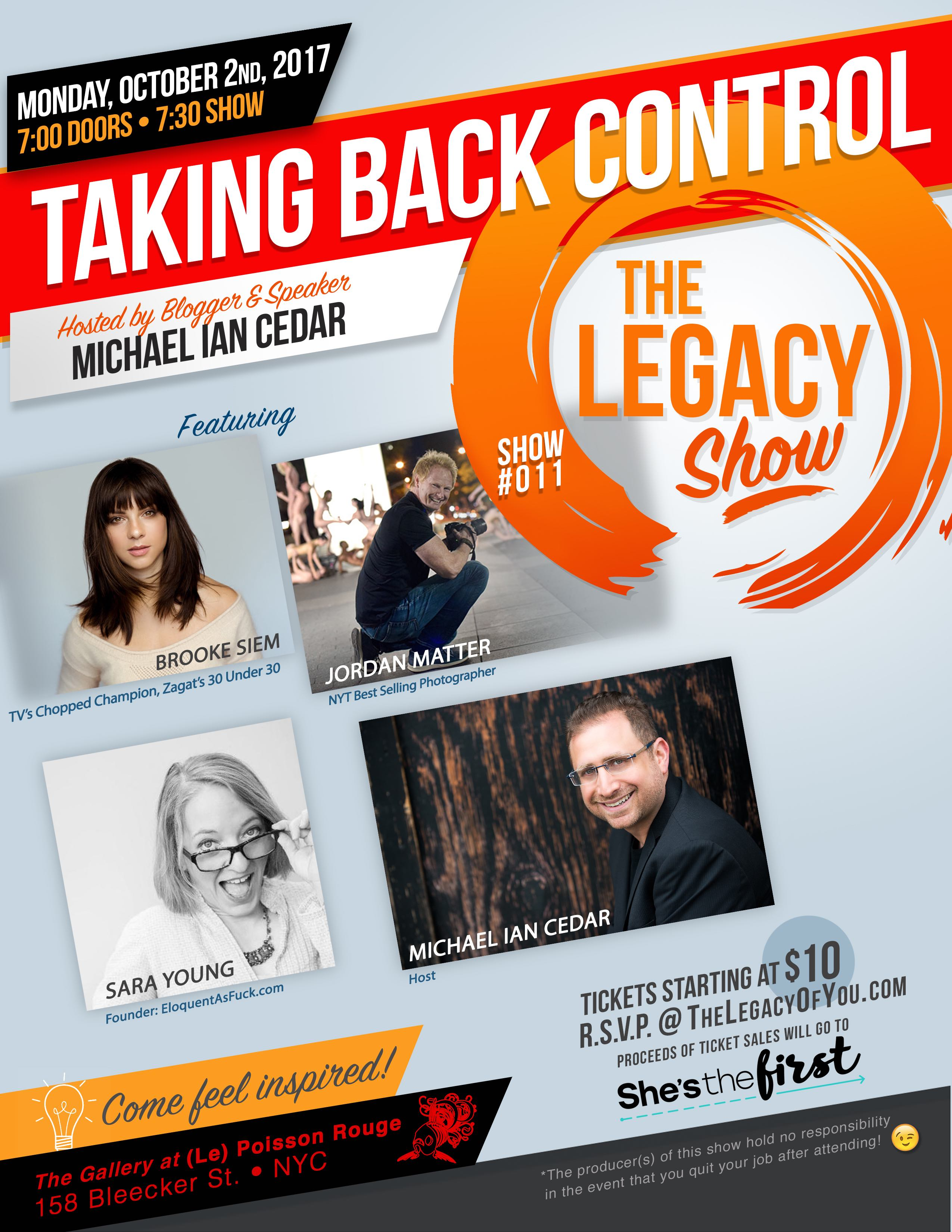 The Legacy Show #011 By Michael Ian Cedar