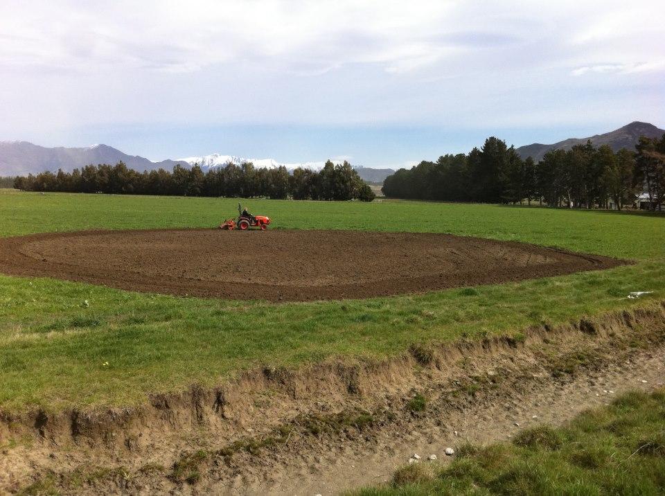 Hawea Flat - preparing the land 2012