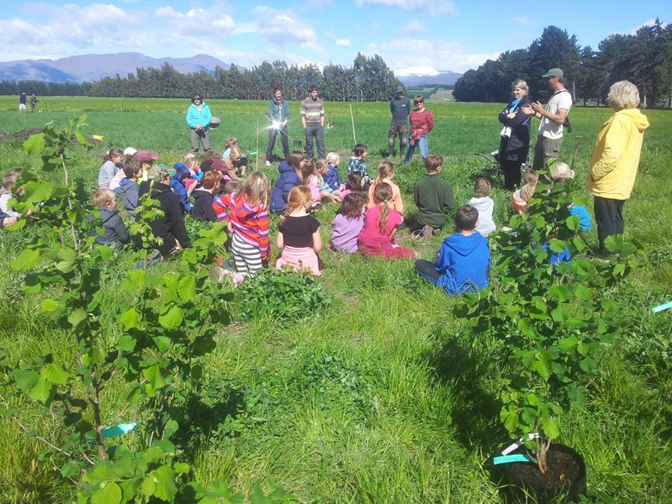 Planting day with local school children
