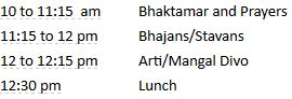 Bhaktamar and Stavan Program (Sun 27 May, 10 am)
