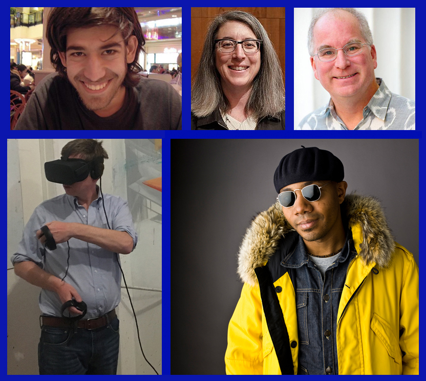 (Left to Right) Aaron Swartz, Cindy Cohn, Brewster Kahle, Barrett Brown, DJ Spooky