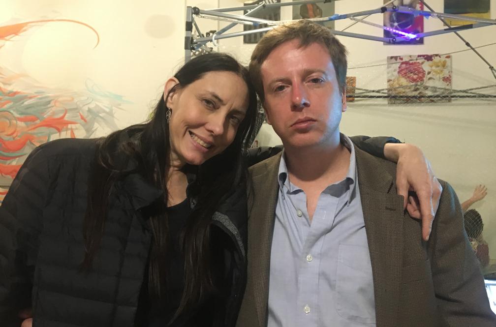 Lisa Rein and Barrett Brown