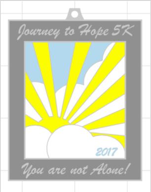 Journey to Hope 5k medal