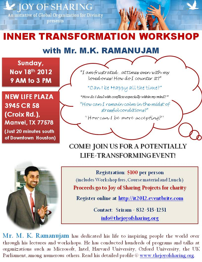 Inner Transformation Workshop in Houston