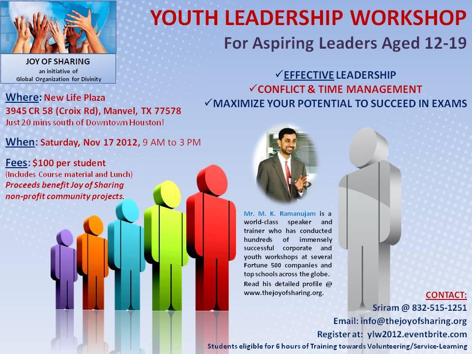 Youth Leadership Workshop flyer