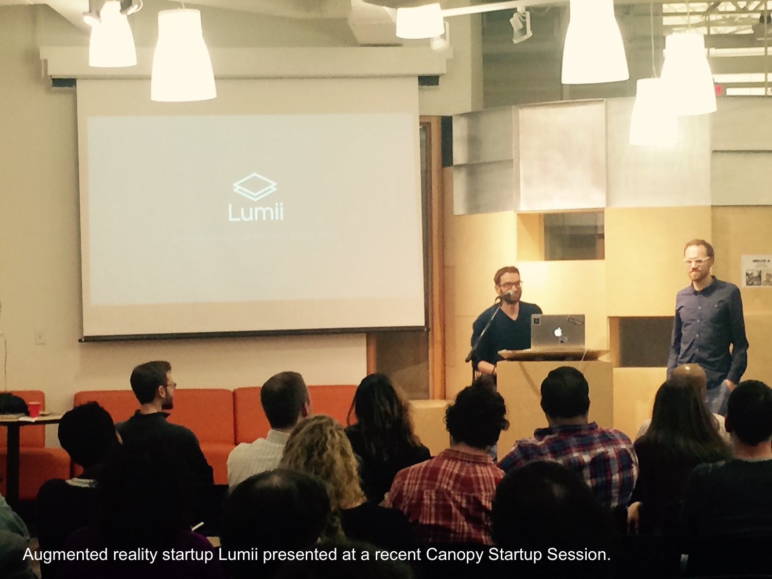 Augmented reality startup Lumii presented at a recent Startup Session.