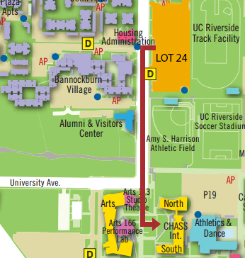 Map from Lot 24 to INTS 1113