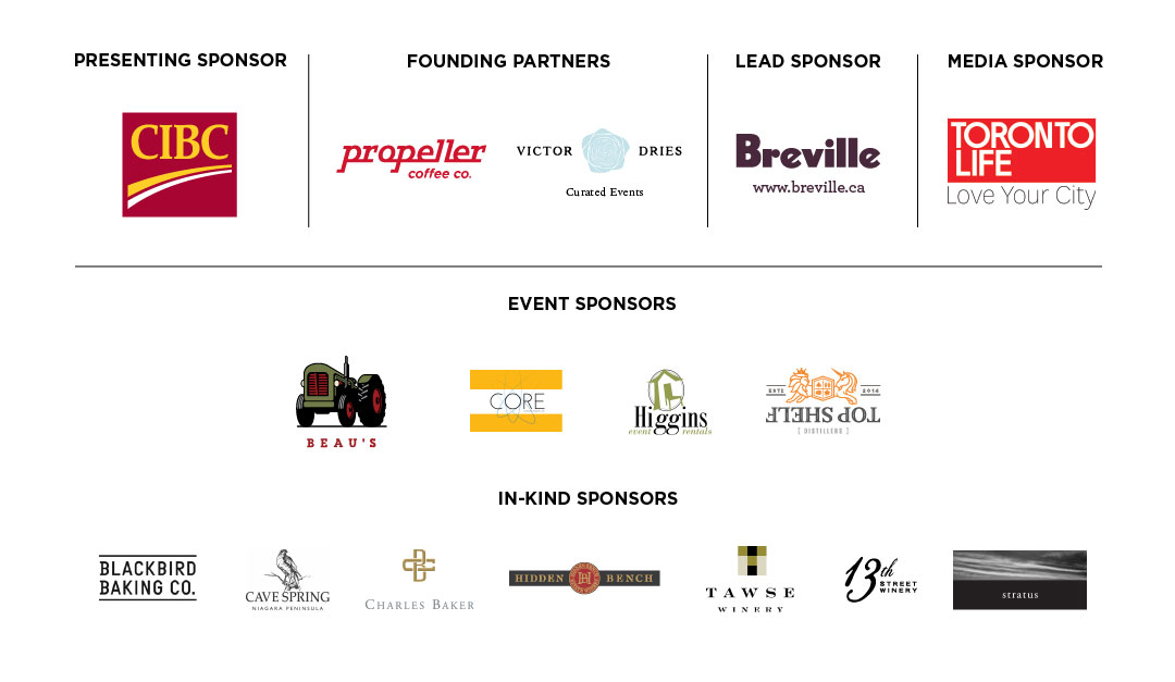 Grid of Chefs for Change Sponsors