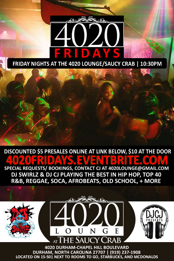 4020 Fridays | Friday Nights at the 4020 Lounge/Saucy Crab