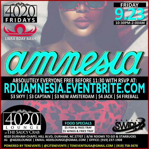Amnesia - Libra Bday Bash {4020 Fridays}