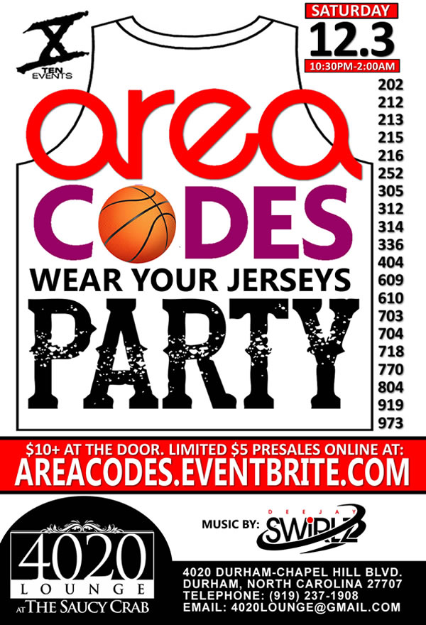Area Codes {Wear Your Jerseys} Party