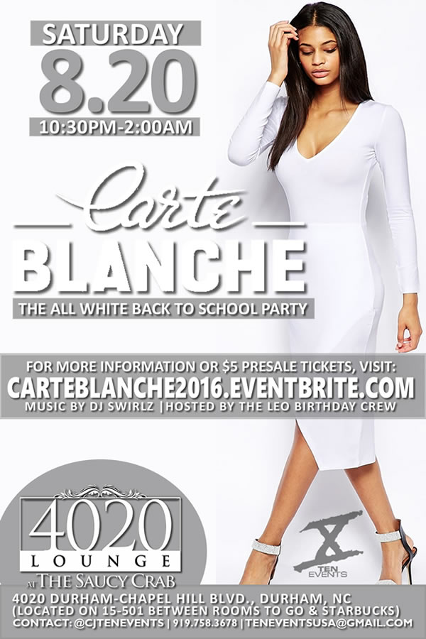 CARTE BLANCHE {THE ALL WHITE PARTY X BACK TO SCHOOL SOCIAL X LEO BDAY BASH}
